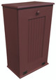 Large Wood Tilt-Out Trash Bin with Shelf | Solid Pine Furniture Made in USA | Sawdust City Trash Bin in Solid Burgundy