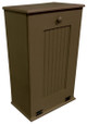 Large Wood Tilt-Out Trash Bin with Shelf | Solid Pine Furniture Made in USA | Sawdust City Trash Bin in Solid Brown