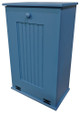 Large Wood Tilt-Out Trash Bin with Shelf | Solid Pine Furniture Made in USA | Sawdust City Trash Bin in Solid Williamsburg Blue