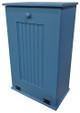 Large Wood Tilt-Out Trash Bin with Shelf | Solid Pine Furniture Made in USA | Sawdust City Trash Bin in Solid Williamsburg Blue