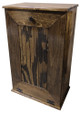 Large Wood Tilt-Out Trash Bin with Shelf | Solid Pine Furniture Made in USA | Sawdust City Trash Bin in Walnut Stain