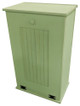 Large Wood Tilt-Out Trash Bin with Shelf | Solid Pine Furniture Made in USA | Sawdust City Trash Bin in Solid Celery
