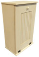 Large Wood Tilt-Out Trash Bin with Shelf | Solid Pine Furniture Made in USA | Sawdust City Trash Bin in Old Cream