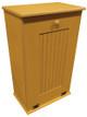 Large Wood Tilt-Out Trash Bin with Shelf | Solid Pine Furniture Made in USA | Sawdust City Trash Bin in Old Gold