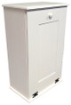 Large Wood Tilt-Out Trash Bin with Shelf | Solid Pine Furniture Made in USA | Sawdust City Trash Bin in Solid Cottage White
