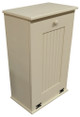 Large Wood Tilt-Out Trash Bin with Shelf | Solid Pine Furniture Made in USA | Sawdust City Trash Bin in Solid Cream