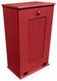 Large Wood Tilt-Out Trash Bin with Shelf | Solid Pine Furniture Made in USA | Sawdust City Trash Bin in Solid Red