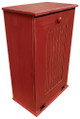 Large Wood Tilt-Out Trash Bin with Shelf | Solid Pine Furniture Made in USA | Sawdust City Trash Bin in Old Red