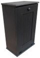 Large Wood Tilt-Out Trash Bin with Shelf | Solid Pine Furniture Made in USA | Sawdust City Trash Bin in Solid Black