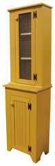 Shown in Old Mustard with a Screen door, sitting on a #71 Jelly Cupboard in Old Mustard with Beadboard door (sold separately)