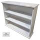 Small Hallway Bookcase | 3-Shelf Hall Bookcase  |  Sawdust City Bookshelf in Solid Cottage White