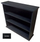 Small Hallway Bookcase | 3-Shelf Hall Bookcase  |  Sawdust City Bookshelf in Solid Black