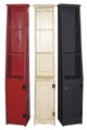 Shown in Old Red, Old Cottage White, and Old Black with grooved doors