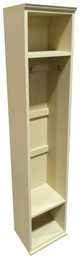 American Pine Hall Tree by Sawdust City | Wood Furniture Made in the USA |  Shown in Solid Cream