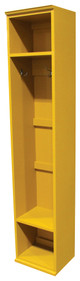 American Pine Hall Tree by Sawdust City | Wood Furniture Made in the USA |  Shown in Solid Mustard