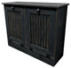 Tilt-Out Trash & Recycling Bins Shown in Old Black