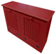 Tilt-Out Trash & Recycling Bins Shown in Old Red