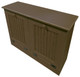 Tilt-Out Trash & Recycling Bins Shown in Old Brown