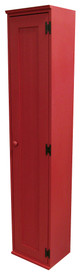 American Pine Hall Tree Cabinet by Sawdust City - Shown in Solid Red
