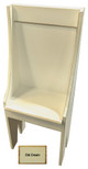 Small Primitive Chair - Shown in Old Cream