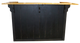 Shown in Solid Black with a Butternut Stained Top