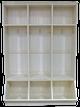 CUSTOM - 3-Locker Unit on Wooden Bins | Custom Pine Locker| Sawdust City Custom Furniture
