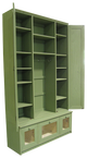 CUSTOM - Cabinets with Roll-Out Drawers | Custom Pine Storage Cabinet | Sawdust City Custom Furniture
