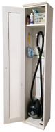 American Pine Broom Closet by Sawdust City - Shown in Old Cottage White