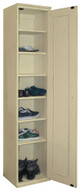 American Pine 7-Cubby Shoe Cabinet by Sawdust City - Shown in Old Cream