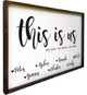 """This Is Us (Personalized) Family Sign - 24"""" x 36"""" Framed"""