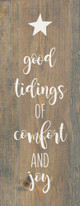 Good tidings of comfort and joy   Sawdust City Wood Signs