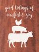 Good tidings of comfort and joy (farm animals) | Sawdust City Wood Signs