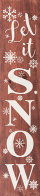 Let It Snow Farmhouse Sign   Wood Winter Signs   Sawdust City Wood Signs