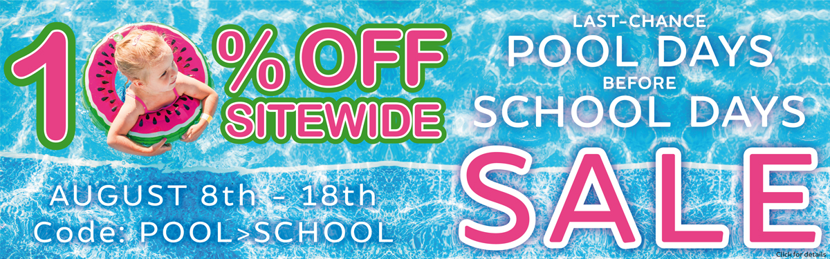 10% Off Sitewide - Code: POOL>SCHOOL   Aug. 8-18