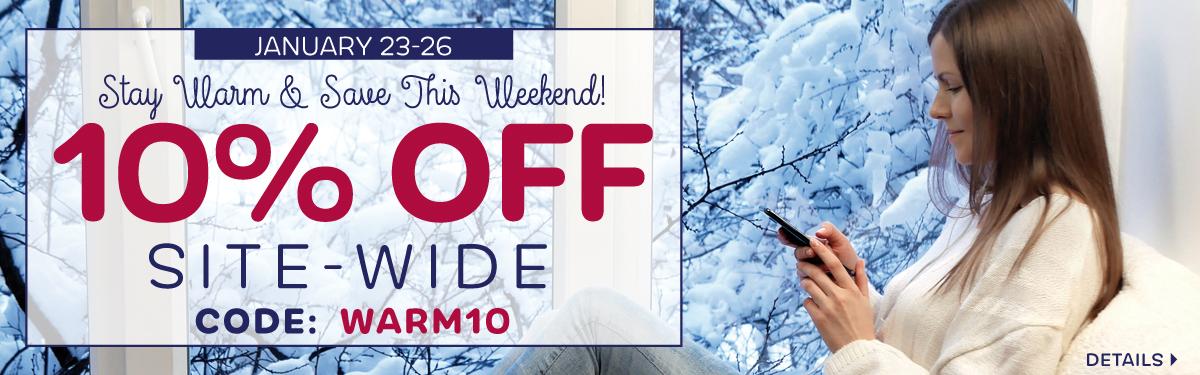 10% Off | Code: WARM10