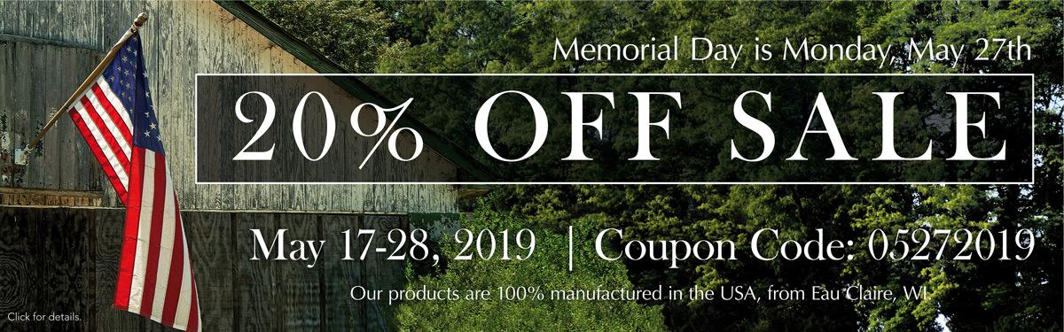 20% Off May 17-28, Code: 05272019