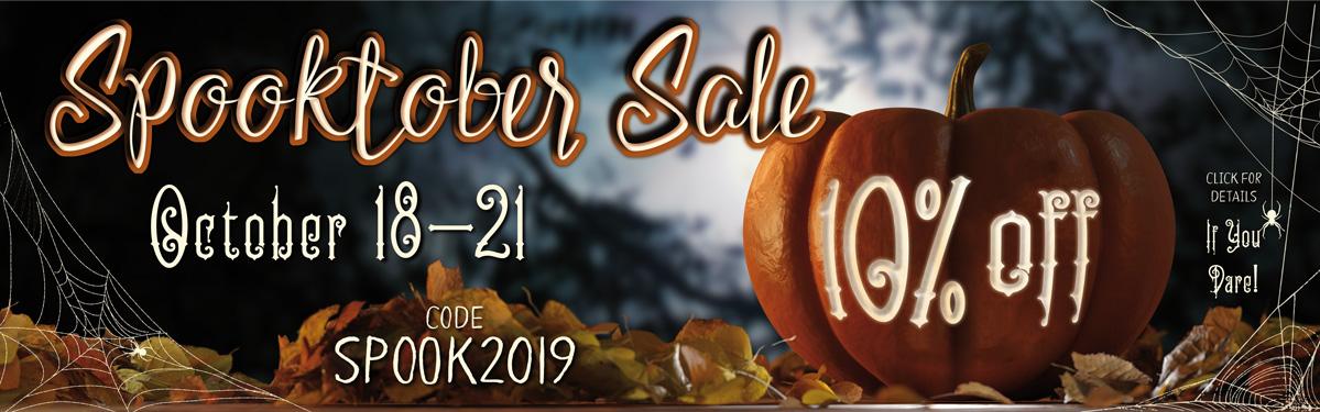 Spooktober Sale | 10% Off | Code: SPOOK2019