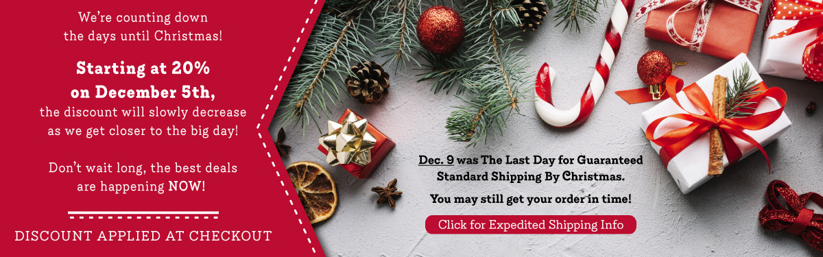 Christmas Countdown - 20 days to go - 20% Off!