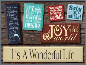 Christmas Wood Signs With Sayings and Quotes
