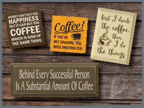 Wood Coffee Signs With Sayings