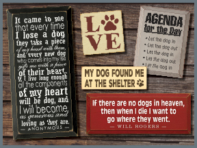 Dog Wooden Signs With Sayings And Quotes