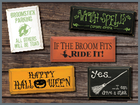 Halloween Wood Signs with Sayings & Quotes