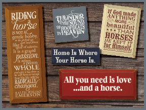 Wooden Signs Pet Signs Horse Signs
