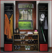 Solid Wood Mudroom Lockers