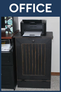 Tilt-Out Trash Bin For Office