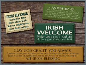 Wooden St. Patrick's Day Signs With Sayings
