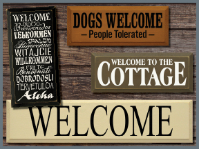 Indoor Outdoor Wooden Welcome Signs