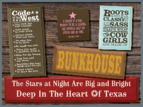 Wooden Western Signs With Quotes And Sayings