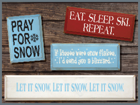 Winter Wood Signs With Sayings and Quotes