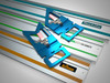 Compatible with Festool, Makita and Triton brand track saw guide rails.